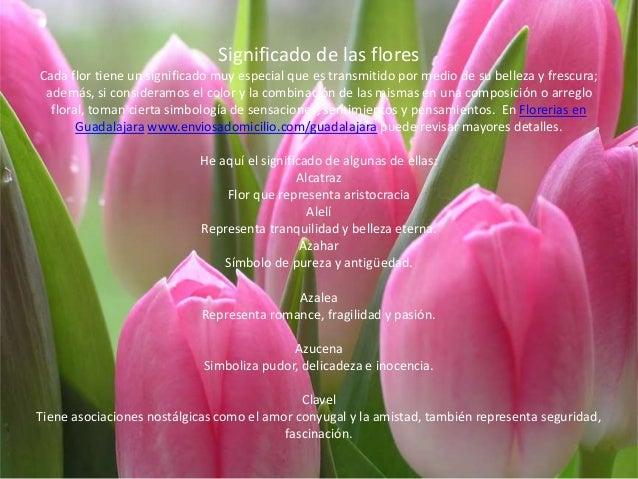 Significado de las flores Cada flor tiene un significado muy especial que es transmitido por medio de su belleza y frescur...
