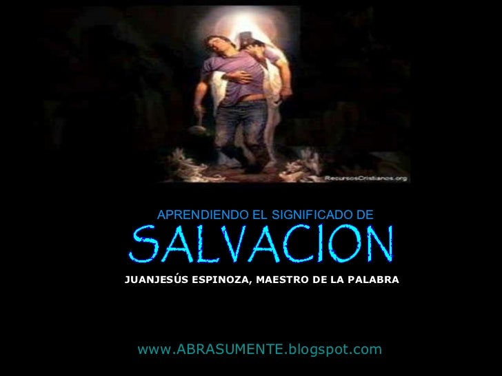SIGNIFICADO DE SALVACION