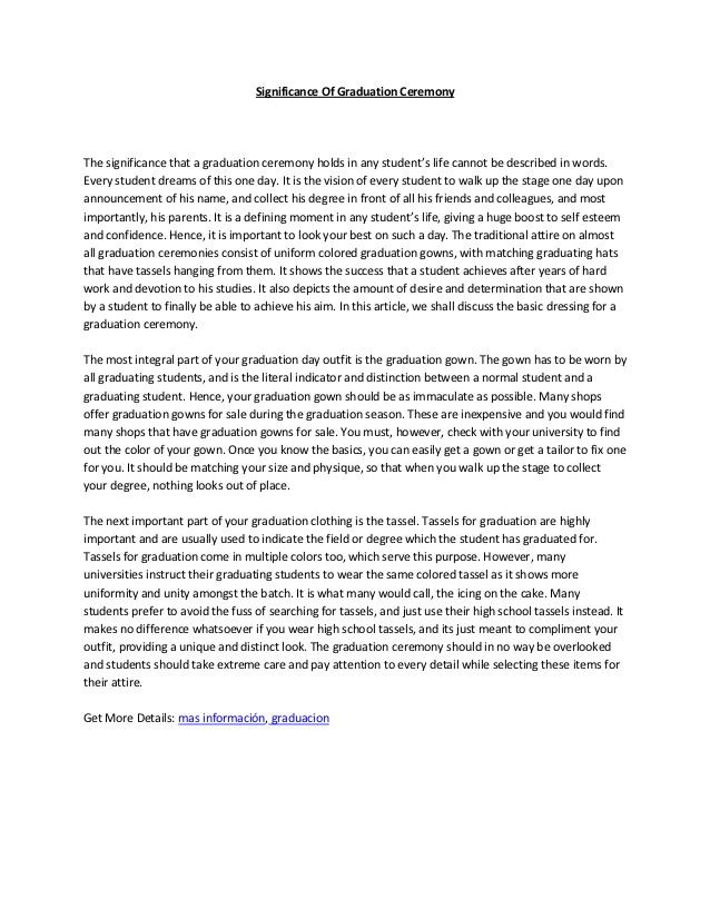 my graduation day essay