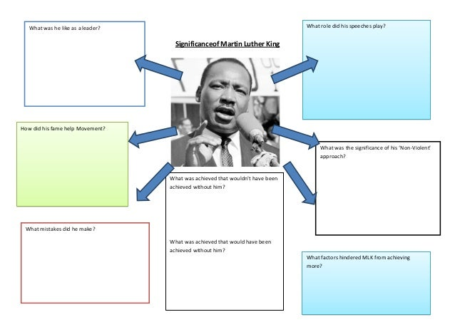 Significance of martin luther king sheet