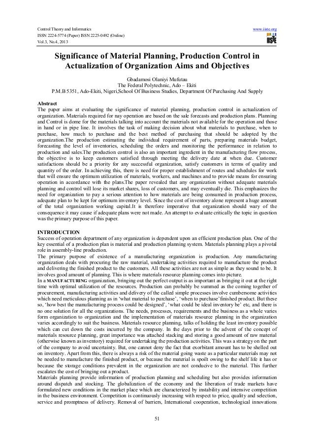 Control Theory and Informatics ISSN 2224-5774 (Paper) ISSN 2225-0492 (Online) Vol.3, No.4, 2013  www.iiste.org  Significan...