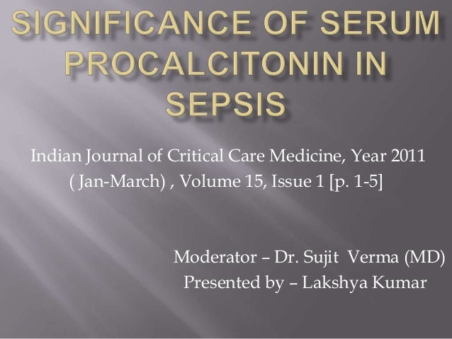 Significance   of    serum procalcitonin    in  sepsis