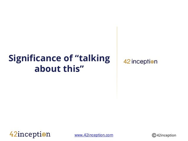 """Significance of """"talking       about this""""               www.42inception.com"""