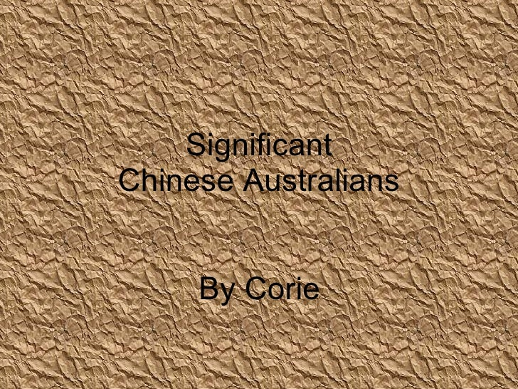 Significant chinese australians