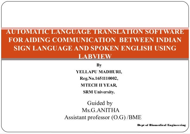 Sign language translator ieee power point