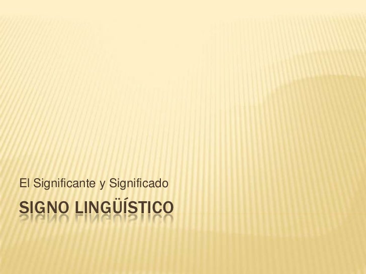 Signo lingüístico