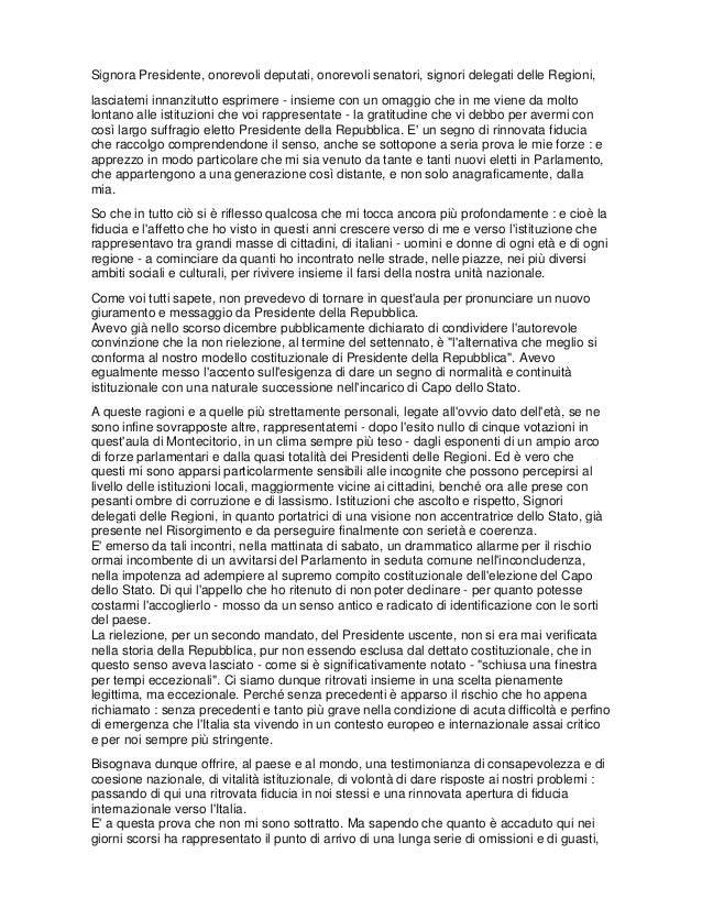 Discorso di Napolitano