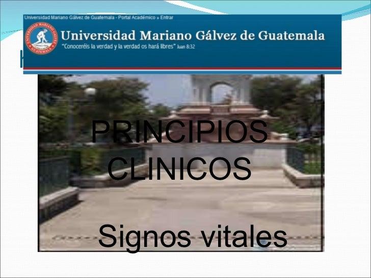 h Signos vitales PRINCIPIOS CLINICOS
