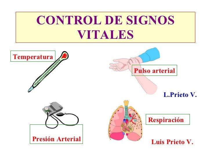 CONTROL DE SIGNOS           VITALES Temperatura                          Pulso arterial                                   ...