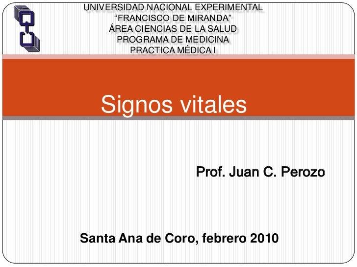 """Universidad Nacional Experimental """"Francisco de Miranda""""Área Ciencias de la SaludPrograma de MedicinaPractica Médica I<br ..."""