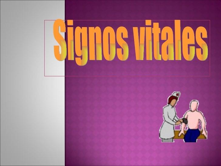 Signos vitales