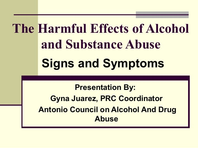 prevention signs symptoms substance abuse