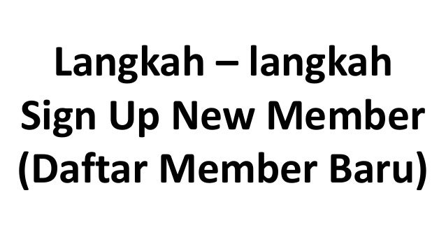Sign up new member