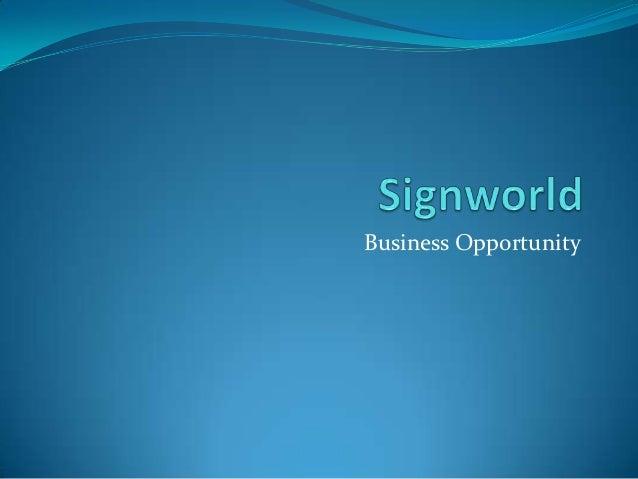 Signworld Overview