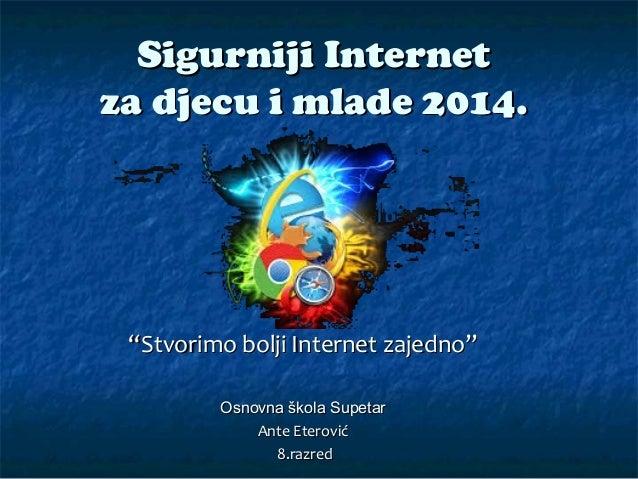 Sigurniji internet za djecu i mlade