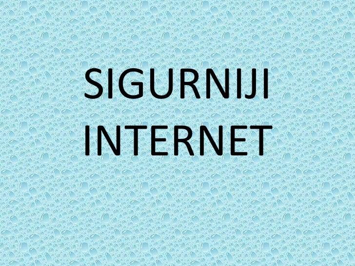 SIGURNIJI INTERNET<br />