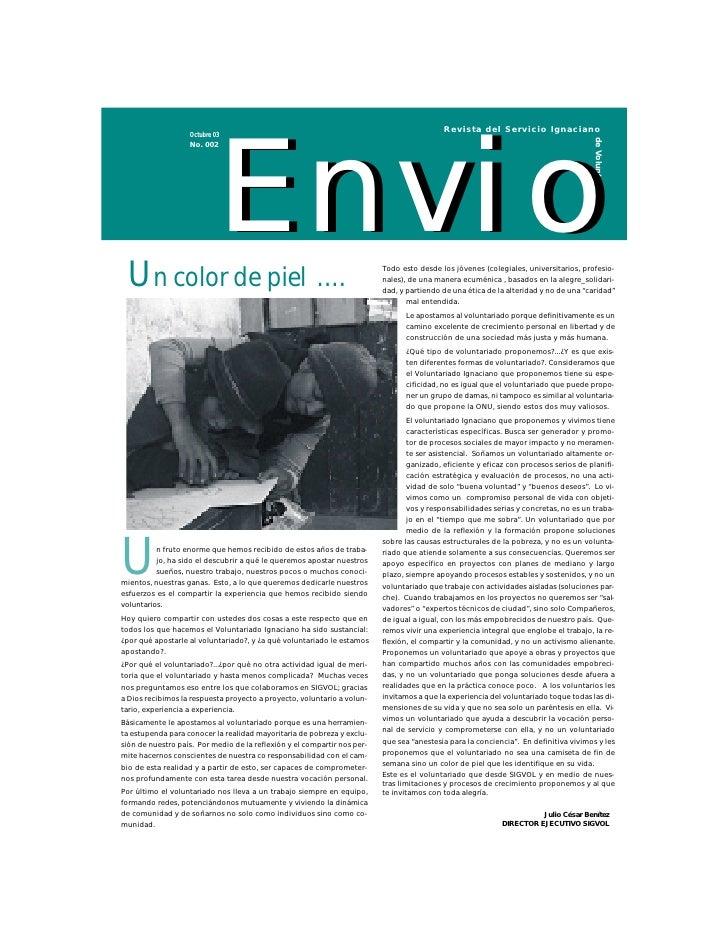 SIGVOL Revista Envío N.2 Octubre 2003