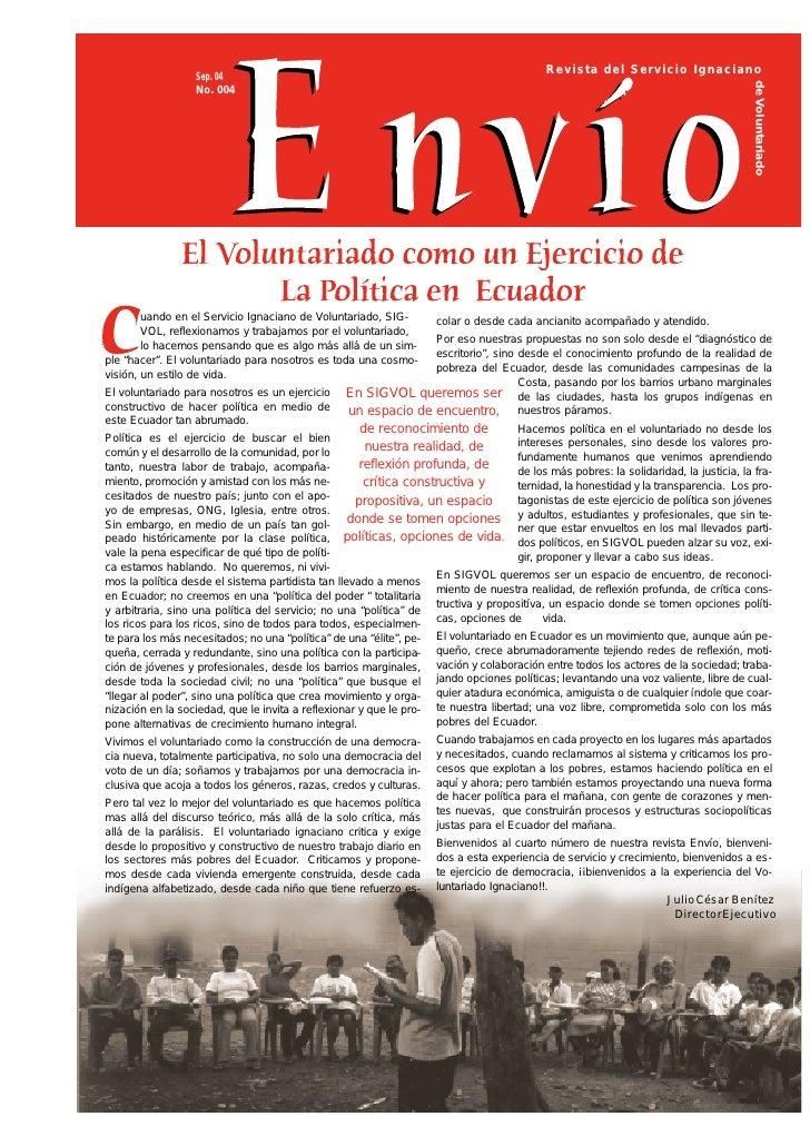 SIGVOL Revista Envío N.4 Septiembre 2004