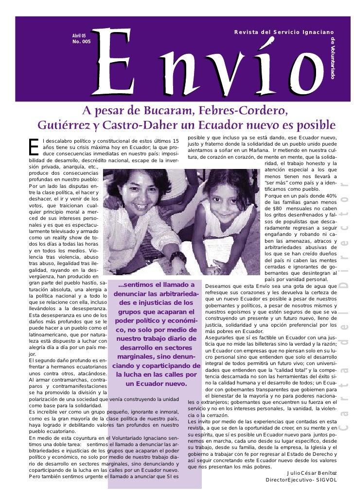 Revista del Servicio Ignaciano                   Abril 05                                                                 ...