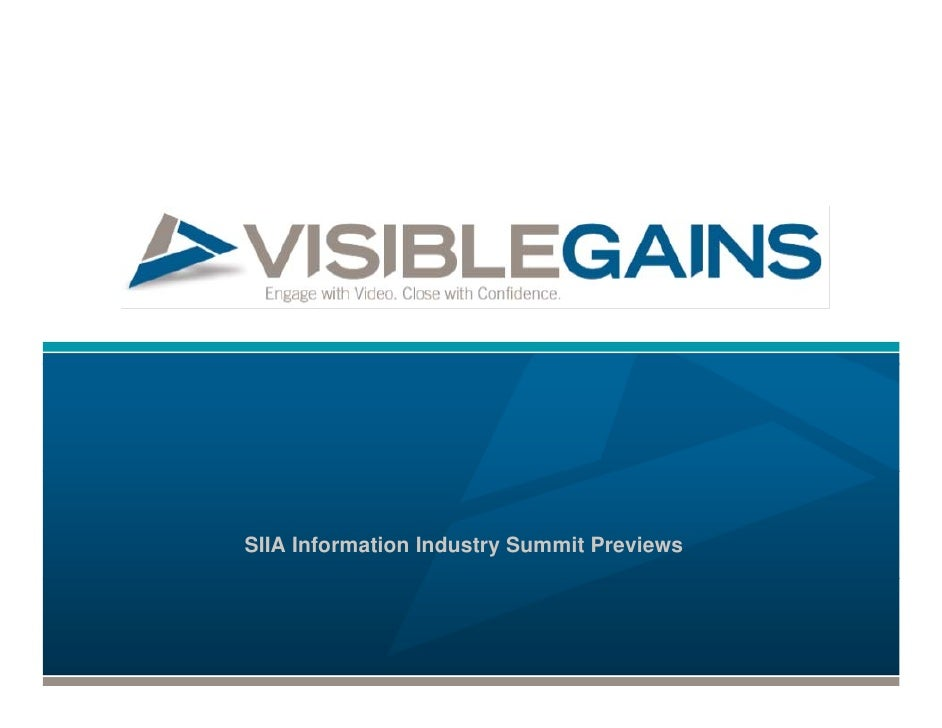 SIIA Information Industry Summit Previews