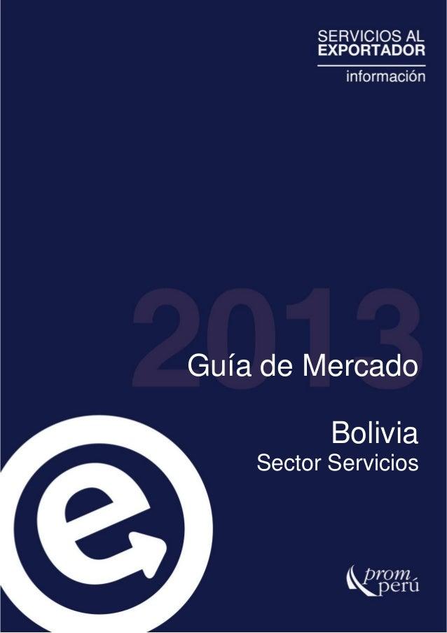 SIICEX - Guia de mercado Bolivia