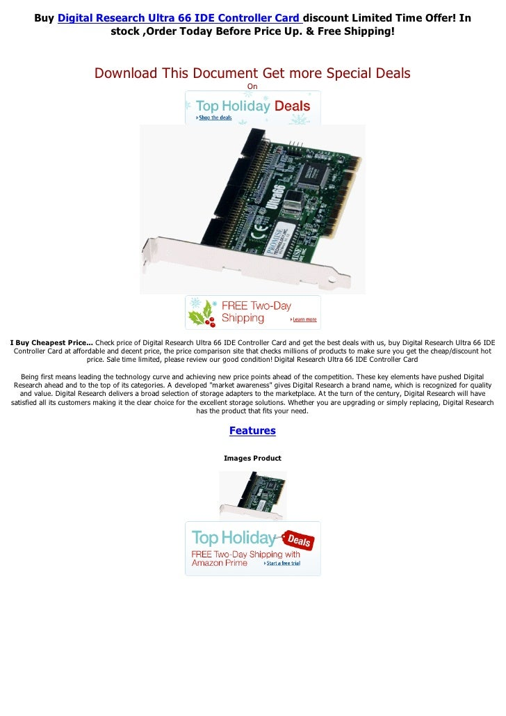 Buy Digital Research Ultra 66 IDE Controller Card discount Limited Time Offer! In                     stock ,Order Today B...