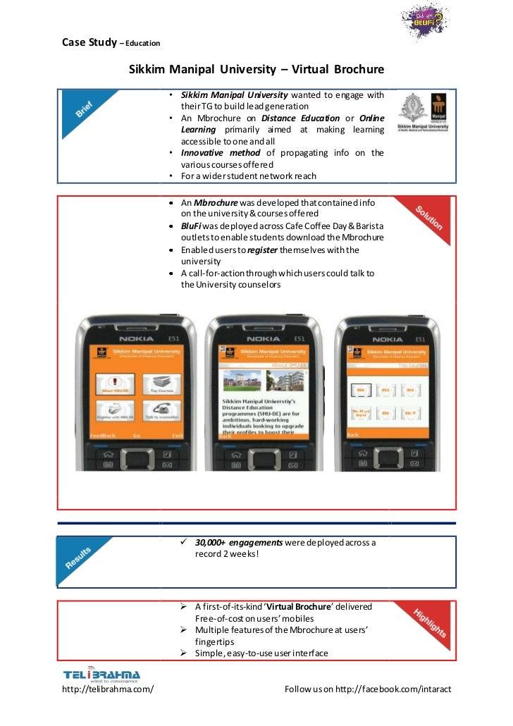 Case Study – Education                Sikkim Manipal University – Virtual Brochure                         • Sikkim Manipa...