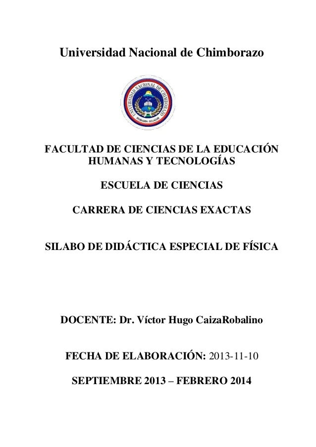 Universidad Nacional de Chimborazo FACULTAD DE CIENCIAS DE LA EDUCACIÓN HUMANAS Y TECNOLOGÍAS ESCUELA DE CIENCIAS CARRERA ...