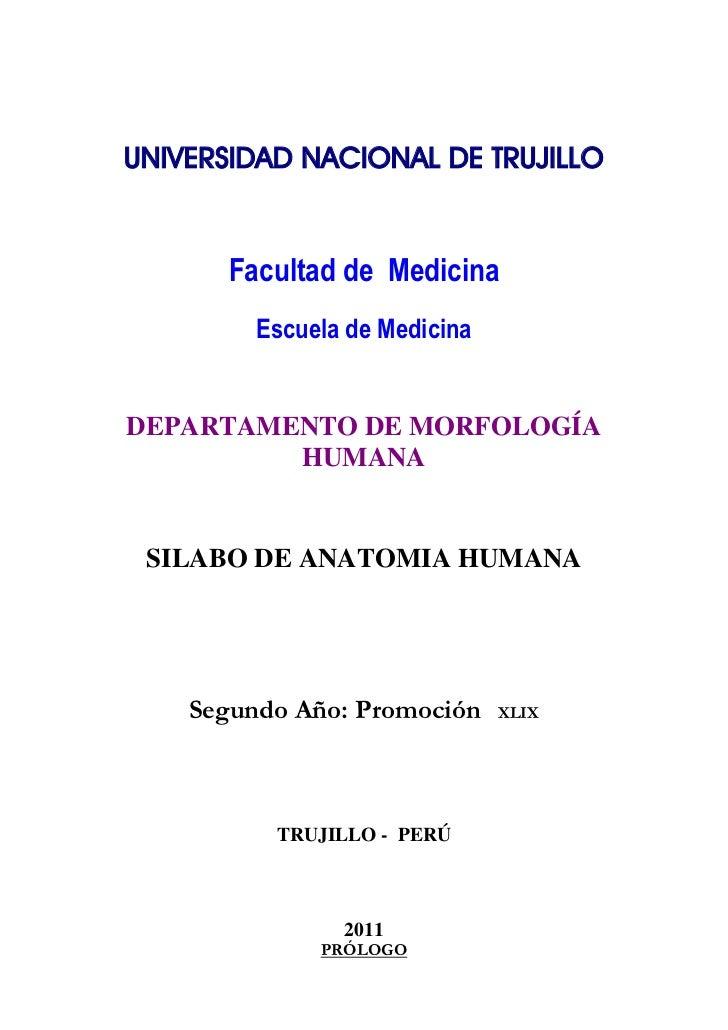 UNIVERSIDAD NACIONAL DE TRUJILLO                        Facultad de Medicina         Escuela de MedicinaDEPARTAMENTO DE M...