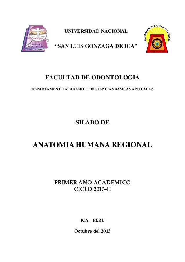 """UNIVERSIDAD NACIONAL  """"SAN LUIS GONZAGA DE ICA""""  FACULTAD DE ODONTOLOGIA DEPARTAMENTO ACADEMICO DE CIENCIAS BASICAS APLICA..."""