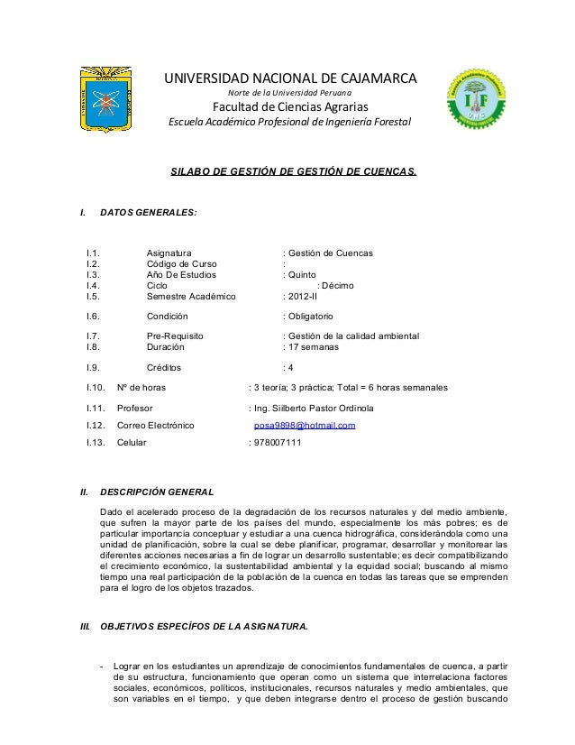 UNIVERSIDAD NACIONAL DE CAJAMARCA Norte de la Universidad Peruana  Facultad de Ciencias Agrarias Escuela Académico Profesi...