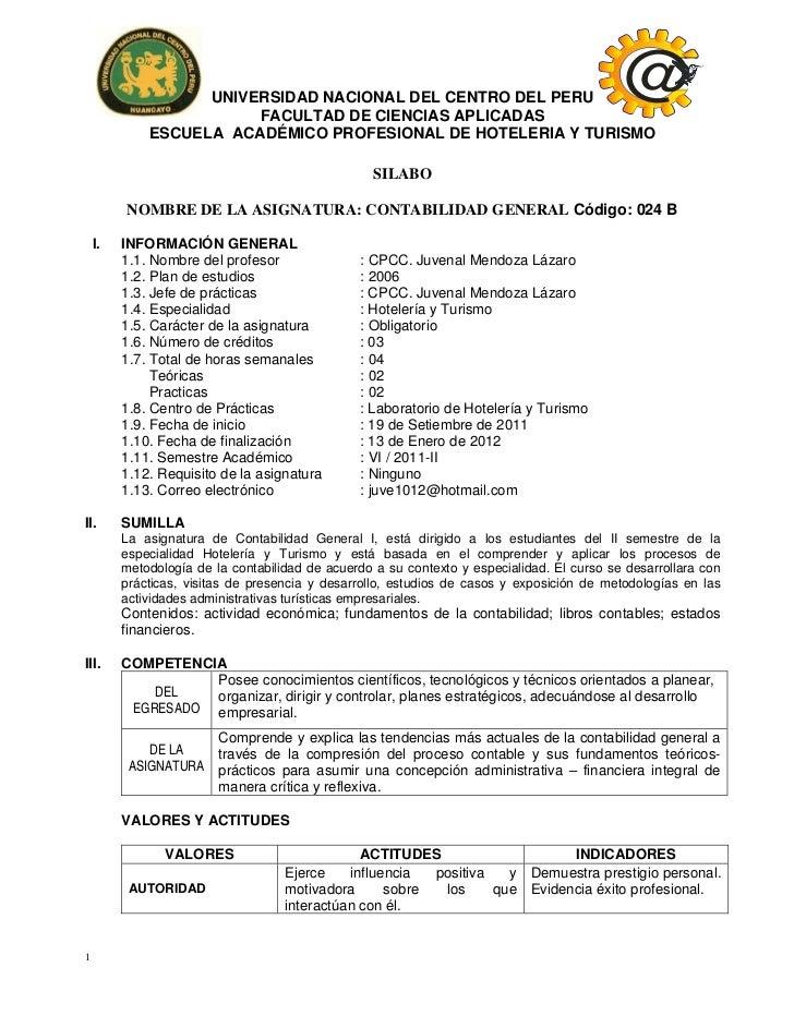 UNIVERSIDAD NACIONAL DEL CENTRO DEL PERU                        FACULTAD DE CIENCIAS APLICADAS                            ...