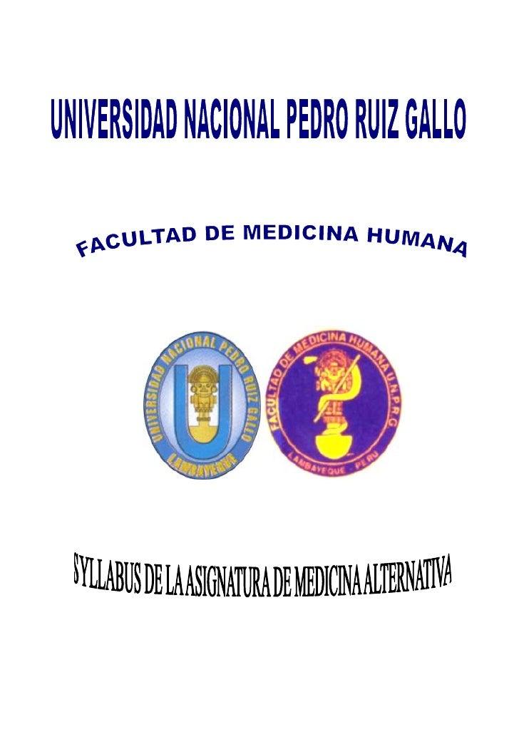 Silabo de medicinas alternativas 2010