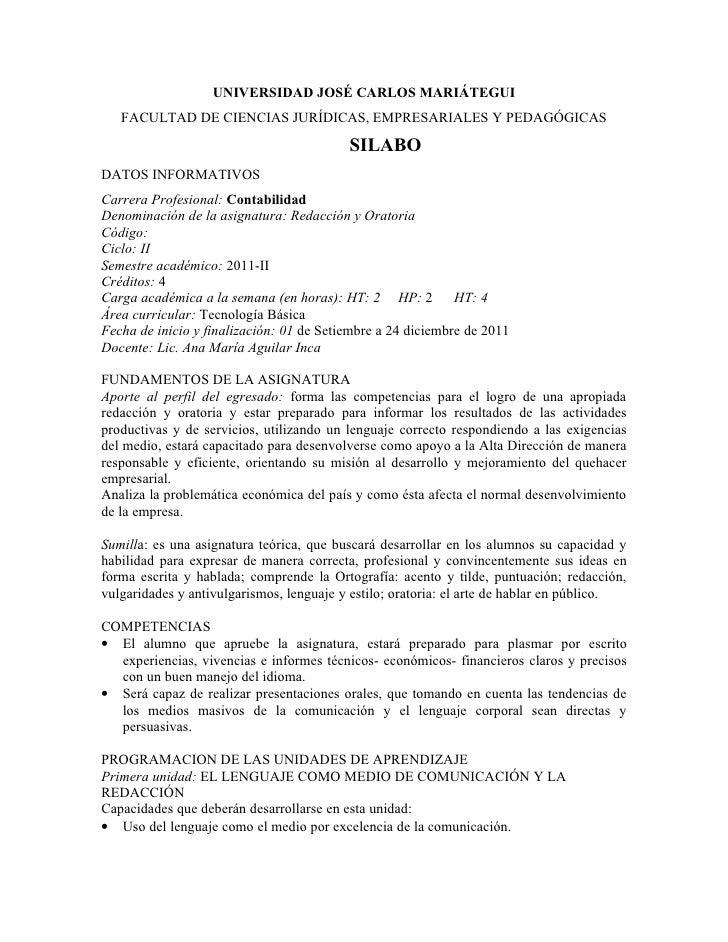 UNIVERSIDAD JOSÉ CARLOS MARIÁTEGUI   FACULTAD DE CIENCIAS JURÍDICAS, EMPRESARIALES Y PEDAGÓGICAS                          ...