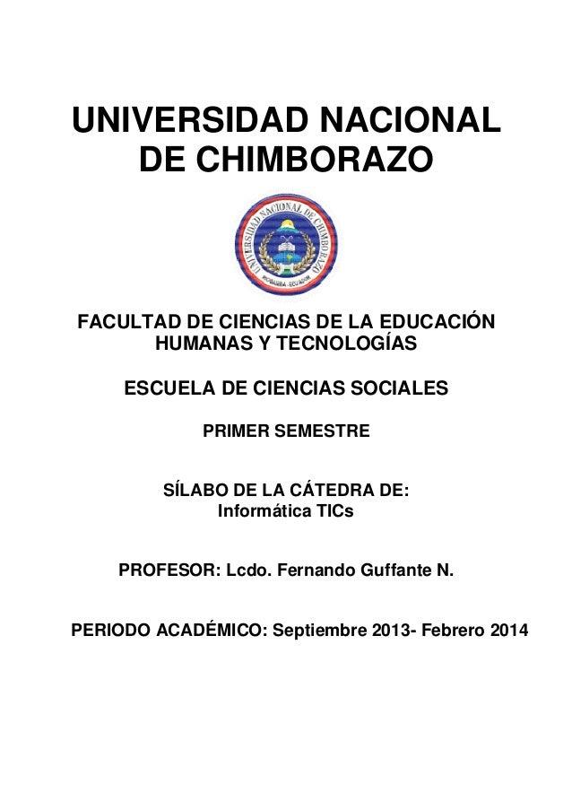 UNIVERSIDAD NACIONAL DE CHIMBORAZO  FACULTAD DE CIENCIAS DE LA EDUCACIÓN HUMANAS Y TECNOLOGÍAS ESCUELA DE CIENCIAS SOCIALE...