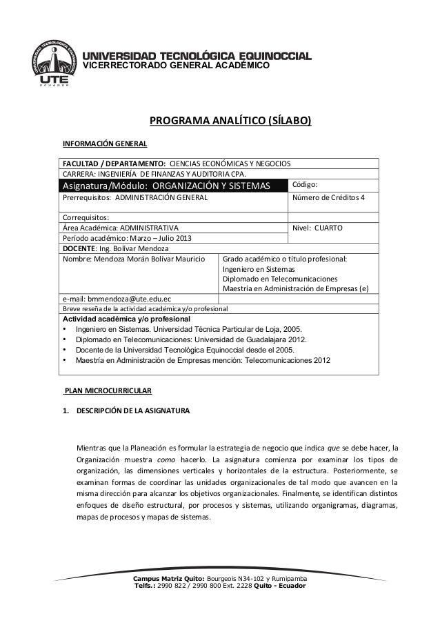Campus Matriz Quito: Bourgeois N34-102 y RumipambaTelfs.: 2990 822 / 2990 800 Ext. 2228 Quito - EcuadorVICERRECTORADO GENE...