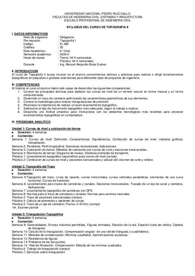 UNIVERSIDAD NACIONAL PEDRO RUIZ GALLO FACULTAD DE INGENIERIA CIVIL, SISTEMAS Y ARQUITECTURA ESCUELA PROFESIONAL DE INGENIE...