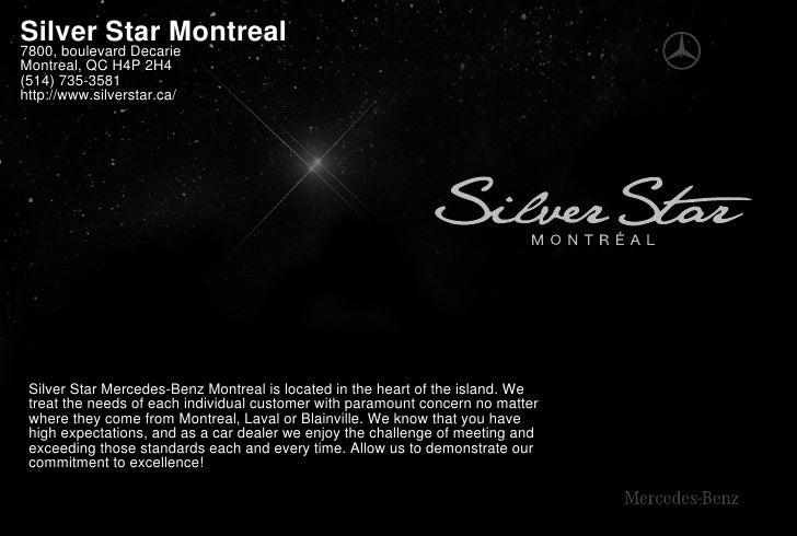 Silver Star Mercedes Benz Dealer Montreal Canada