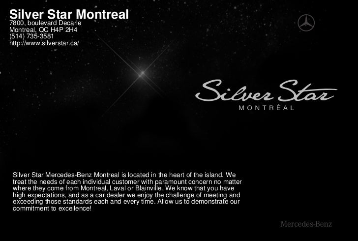 Silver Star Montreal 7800, boulevard Decarie Montreal, QC H4P 2H4 (514) 735-3581 http://www.silverstar.ca/      Silver Sta...