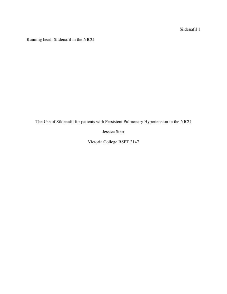 Sildenafil, a treatment option for PPHN?