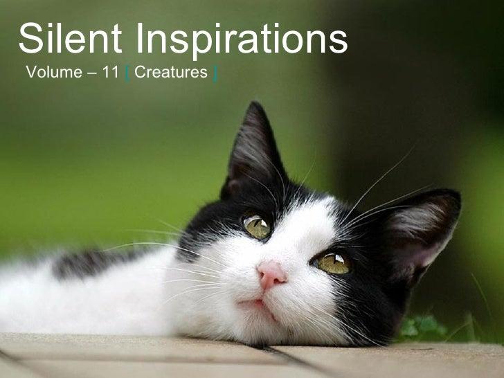 Silent Inspirations Volume – 11   [   Creatures   ]
