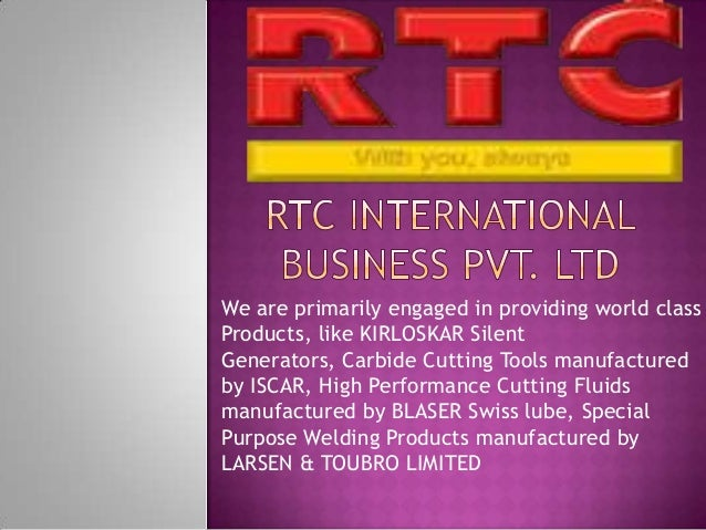 We are primarily engaged in providing world class Products, like KIRLOSKAR Silent Generators, Carbide Cutting Tools manufa...