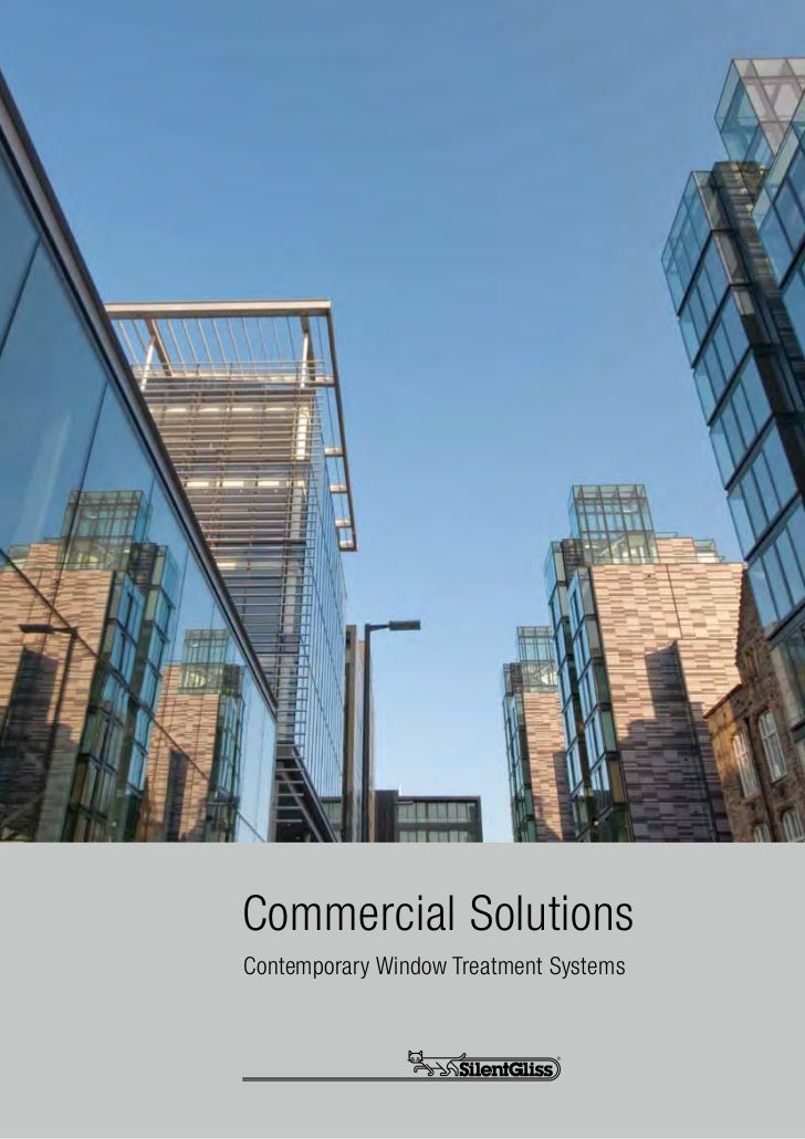 Commercial SolutionsContemporary Window Treatment Systems