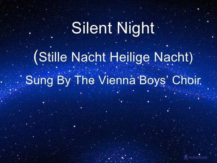 Silent Night 平安夜( Sung ByThe Vienna Boys' Choir)