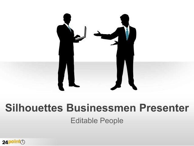 Silhouettes Businessmen Presenter
