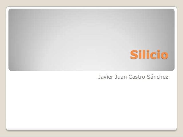SilicioJavier Juan Castro Sánchez