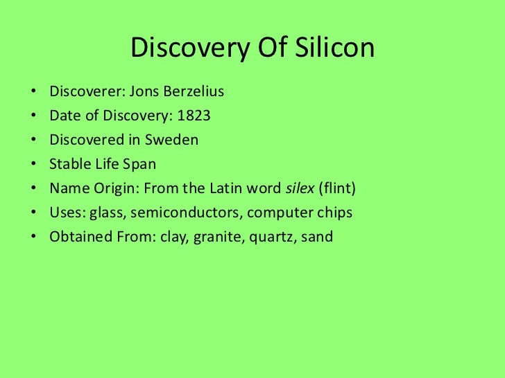 Silicon Uses In Everyday Life | www.pixshark.com - Images ...