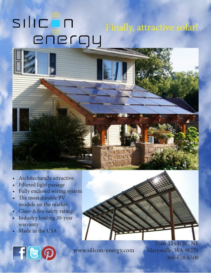 Finally, attractive solar!• Architecturally attractive• Filtered light passage• Fully enclosed wiring system• The most...