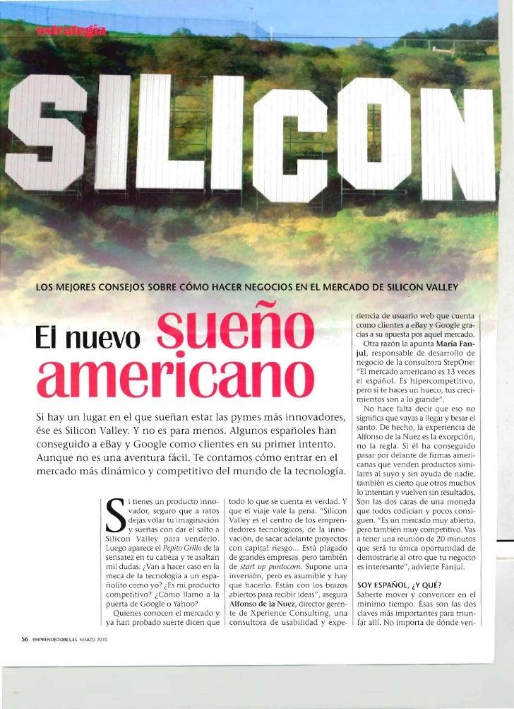 lOS MEJORES CONSEJOS SOBRE CÓMO HACER NEGOCIOS EN El MERCADO DE SllICON VAllEY                                            ...
