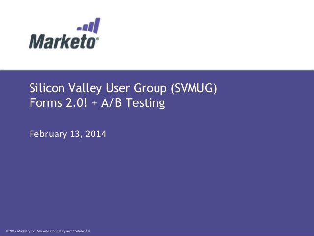 Silicon Valley Marketo Users Group - February 2014